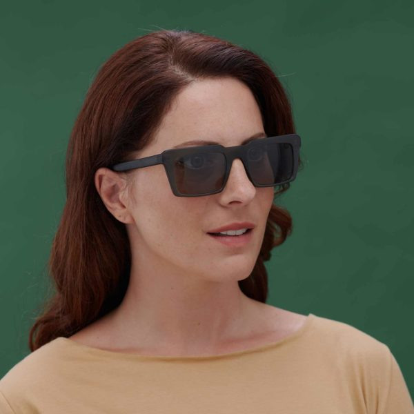 sustainable fashion sunglasses in green