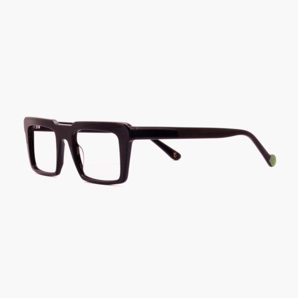 Retro frame glasses in black Nazaret