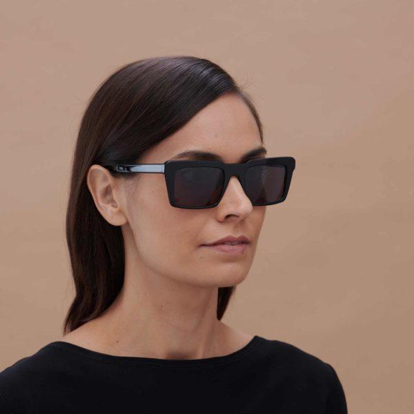 Black sunglasses with compostable frame Nazaret model