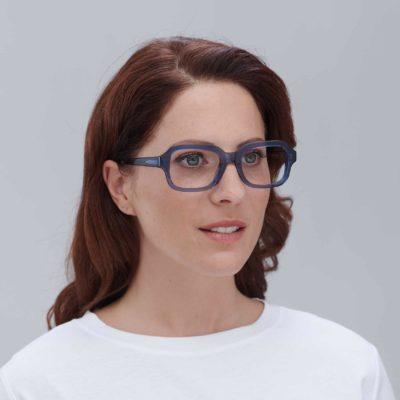 Ruzafa: Square prescription glasses in blue