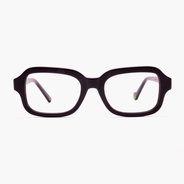 Gafas cuadradas de moda sostenible unisex Modelo Ruzafa en color Negro