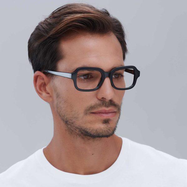 Ruzafa: Gafas graduadas de moda sostenible en color Negro