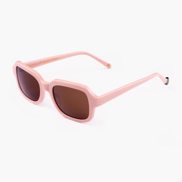 Gafas con lentes de sol amplias para mujer color rosa